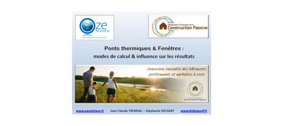 Ponts thermiques & Fenêtres