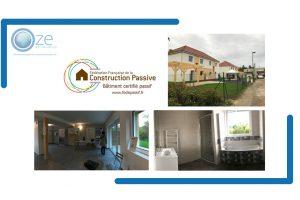 Article Technique – Bâtiment Certifié – Troyes Habitat : 2 maisons bi familiales passives / Certificat Fédépassif 2017-36 et 2017-37